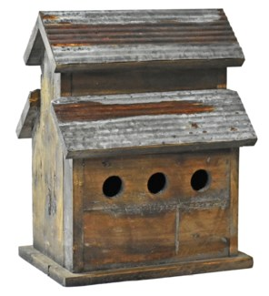 Rustic Birdhouse 3 Stable w/galv roof - Coming Spring 2019 11.4x8.46x14.17 inches