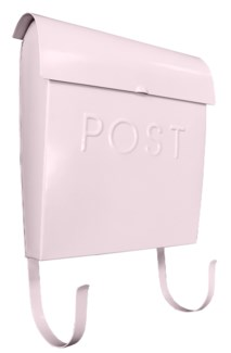 Euro Post Mailbox, Pink, 11 x 4.5 x 12 in