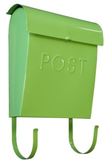 Euro Post Mailbox, Green, 11 x 4.5 x 12 in