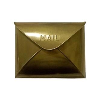 Antique Brass Envelope Mailbox,12.5x5x10 Inches