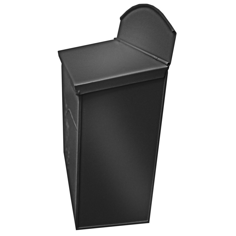 Chelsea Post Mailbox, Black - 11.5x4.8x13 in