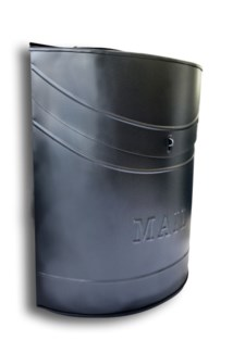 Kinley MAIL Mailbox Black. Lid access. 11.4x4.52x13.9