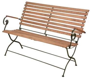 Foldable bench wood/metal/green. Steel, beech wood. 132,0x63,5x88,8cm. oq/1,mc/1 Pg.109    *Cushio