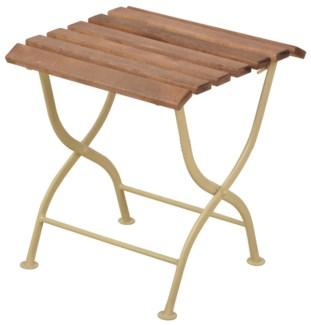 Foldable sidetable wood/metal/cream. Steel, beech wood. 38,0x38,0x44,0cm. oq/1,mc/1 Pg.109