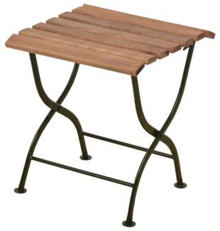 Foldable sidetable wood/metal/green. Steel, beech wood. 38,0x38,0x44,0cm. oq/1,mc/1 Pg.109
