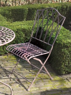 Foldable chair metal. Metal. 45,0x54,3x91,8cm. oq/2,mc/2 Pg.109    *Cushions not included
