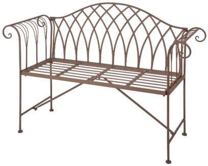Garden bench metal. Metal. 130,5x46,0x90,0cm. oq/1,mc/1 Pg.109    *Cushions not included