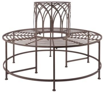 Tree bench metal. Metal. 120,3x120,3x86,2cm. oq/1,mc/1 Pg.109    *Cushions not included