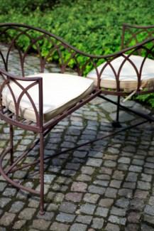 Lovers bench metal. Metal. 114,5x73,0x79,0cm. oq/1,mc/1 Pg.109 *Cushions not included