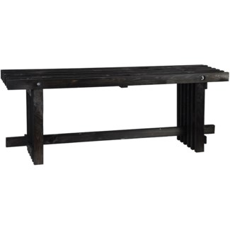Bench wood black S -  47.24x12.8x45.5