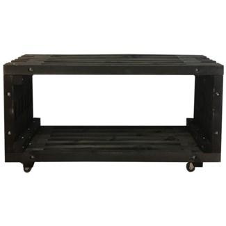 Lounge table wood black -  47.24x12.8x60