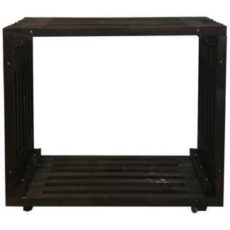 Bar table wood black -  47.24x12.8x110