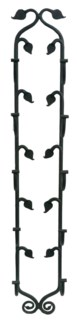 Leafy Hanging Wine Rack Handforged, 38.3x6.2x4.5 Inches