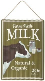 Ad sign corrugated milk - (11x0.5x15.7 inches)
