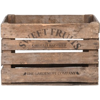 Apple crate wood -  20.12x16.65x30.1