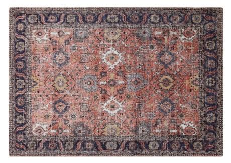 Anatolia Rust Carpet, 4x6 100 % Cotton, machine woven, 200gm/sqf India