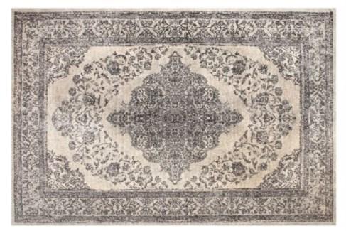 Emporer Ivory Grey Carpet, 4x6 100 % Cotton, machine woven, 200gm/sqf India