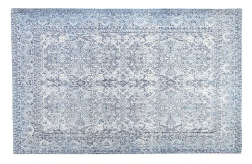 Greece Blue Carpet, 4x6, 100 % Cotton, machine woven, 200gm/sqf India