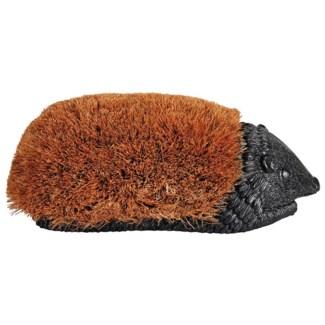 Bootbrush hedgehog L. Polystone and coconut brush. 38,7x19,5x14,2cm.