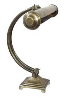 Nicholas Desk Lamp, Vintage Clerk Style, Antique Brass, 14.2 Height x 4.7 Base