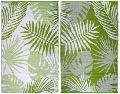 Garden carpet jungle leaves - 60x95.25x0.5 inches