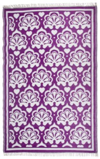 Garden carpet persian purple/ white - 60x95.25x0.5 inches