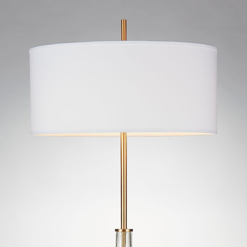 Hudson Floor Lamp Ant Brass