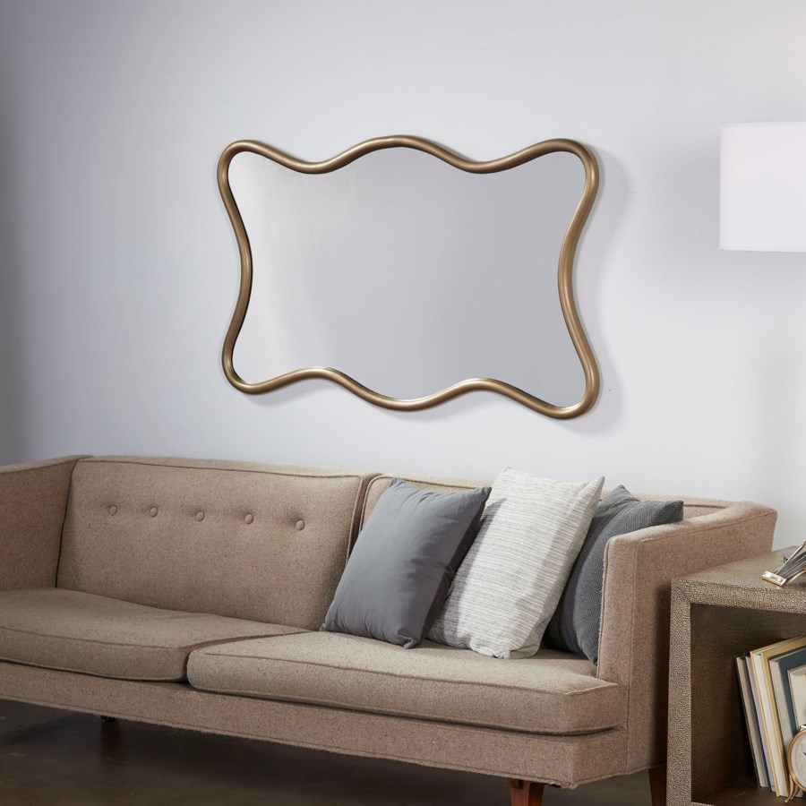 Milano Hall Mirror Ant Brass