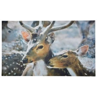 Doormat deer winter. Recycled Crumb Rubber, non woven polyester. 0.2x30x17.7inch. FD ON SALE 30 pe