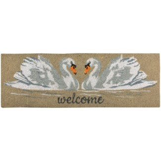 Coir doormat swan - 29.75x10x1 inches