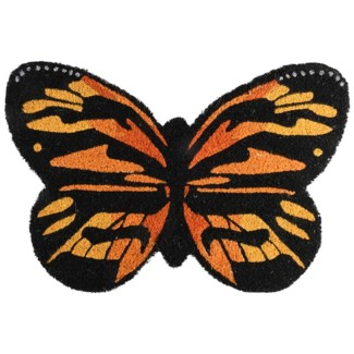 Doormat coir butterfly, Coconut fibre, PVC - 23.62x15.75x1.9