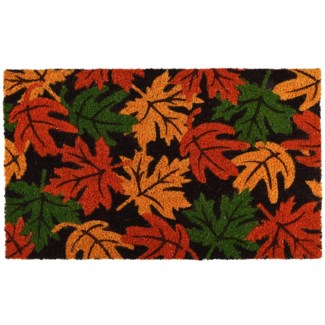 Doormat coir autumn leaves, Coconut fibre, PVC - 23.62x15.75x1.6