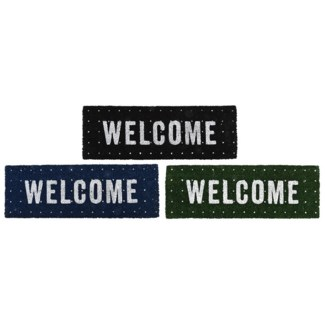Doormat coir welcome ass, Coconut fibre, PVC - 29.72x10.04x2