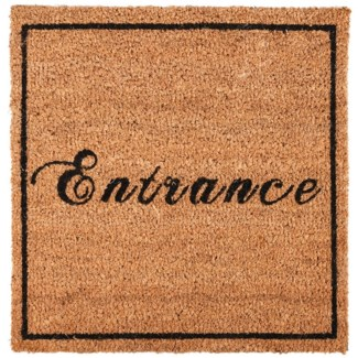 Doormat coir square entrance, Coconut fibre, PVC - 17.72x17.72x1.6