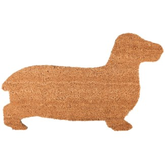Doormat coir dog, Coconut fibre, PVC - 29.65x17.72x1.7