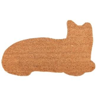 Doormat coir cat, Coconut fibre, PVC - 29.33x16.93x1.7