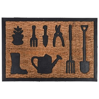 Doormat rubber/ coir watering can, Coconut fibre, rubber - 23.94x15.87x0.8
