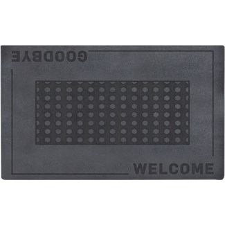 Doormat relief welcome/ goodbye -  29.53x17.72x0.3