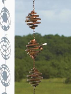 Bee Spiral Rain Chain 3x92 inch. Pg.42