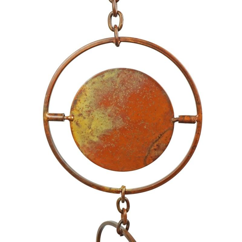 Flamed Circle Rain Chain 4x96 Rain Chains North American Country Home