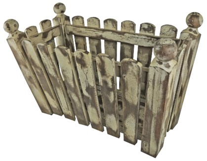 Picket Fence Planter Box  23.1x11.5x15 inch