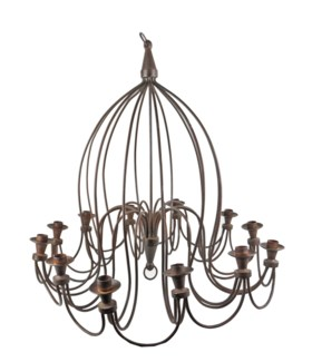 Hand Forged Chandelier (Candles Only)