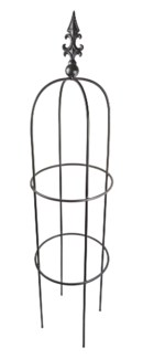 Iron Plant Plant Support - Obelisk Large, Black 14x14x 60
