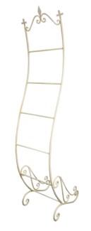 Iron Magazine holder and Towel rack White, 16x17x77