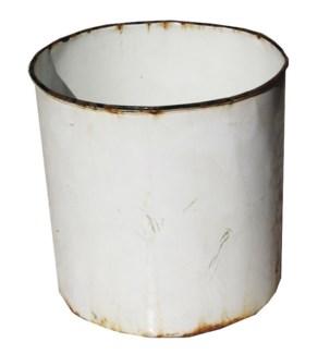 Antique Enamel Bucket No Handle