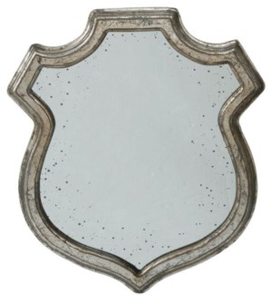 Wide Shield Mirror L 23.5x20inch. Wood. Glass. (SE FALL 2016) 35percent off original price $70