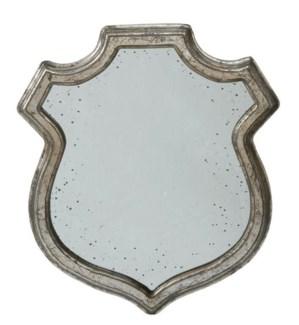 Wide Shield Mirror M 13x15.2inc. Wood. Glass. ON SALE 25 percent off original price 42