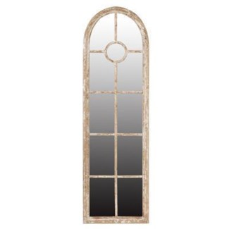 Arched Weathered Finish Wooden Mirror Tall.24x1.5x79inch (SE FALL 2016)