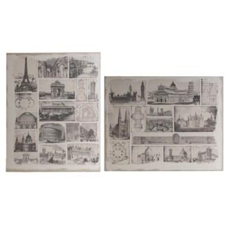 Architectural Travels Panel Prints60x48  set of 2,