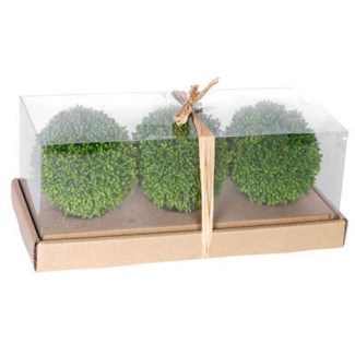 Set/3 Immitation Grass Ball, Small. Plastic 4 inch 25 percent off orignal price 25.25
